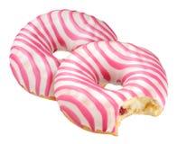Doughnut που απομονώνεται ρόδινο Στοκ Φωτογραφία