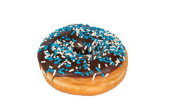 doughnut σοκολάτας η τήξη ψεκάζε Στοκ Εικόνες