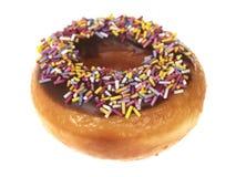 doughnut σοκολάτας το δαχτυλίδι ψεκάζει Στοκ Φωτογραφία