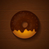 doughnut σοκολάτας ανασκόπησης απομόνωσε το λευκό Στοκ εικόνες με δικαίωμα ελεύθερης χρήσης