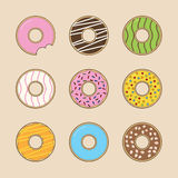 Doughnut συλλογή Στοκ εικόνες με δικαίωμα ελεύθερης χρήσης