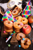 Doughnut της Apple Στοκ Φωτογραφία
