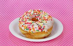 doughnut το πιάτο ψεκάζει Στοκ Φωτογραφία