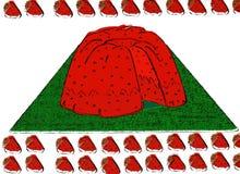 doughnut φράουλα Στοκ Εικόνες