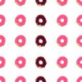 Doughnut χρώματος άνευ ραφής βερνικωμένη σχέδιο donuts διανυσματική απεικόνιση υποβάθρου διανυσματική απεικόνιση