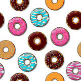 Doughnut άνευ ραφής σύσταση. Στοκ Εικόνα
