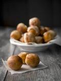 Doughnut. Homemade small doughnuts, also known as doughnut holes stock photography