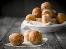 Doughnut. Small homemade doughnuts, also known as doughnut holes Stock Image