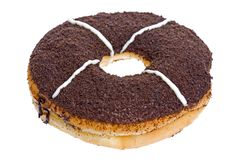 Doughnut. Isolated image of a delicious looking doughnut royalty free stock images