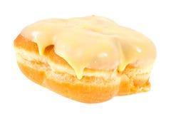 Donut with banana glaze isolated Royalty Free Stock Photos