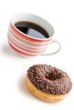 Doughnut with black coffee Stock Photo