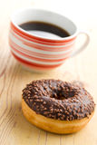 Doughnut with black coffee Royalty Free Stock Photo