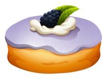 Doughnut with blackberry flovor Stock Photography