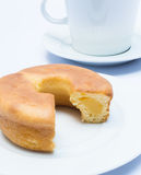 Doughnut cake filled with Vanilla. custard. Royalty Free Stock Image