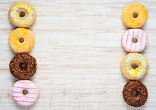 Doughnut Cakes with Copy Space Area Royalty Free Stock Images