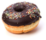 Doughnut  with chocolate cream Royalty Free Stock Images