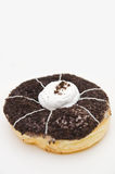 Doughnut with chocolate and cream Stock Image