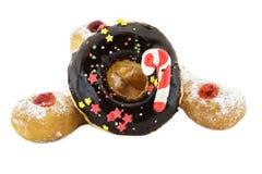 Doughnut Chocolate and Doughnut Trio Royalty Free Stock Photo