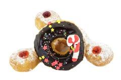 Doughnut Chocolate and Doughnut Trio Royalty Free Stock Images