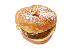 Doughnut with chocolate Royalty Free Stock Photography