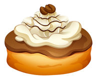 Doughnut with chocolate topping Stock Images