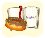 Doughnut with chocolate topping Royalty Free Stock Images