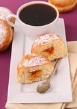 Doughnut with coffee cup Royalty Free Stock Photos