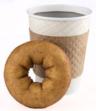 Doughnut and coffee Stock Photos