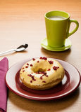 Doughnut and coffee Royalty Free Stock Image