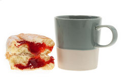 Doughnut with coffee Stock Images