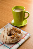 Doughnut and coffee Royalty Free Stock Photography