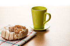 Doughnut and coffee Royalty Free Stock Images