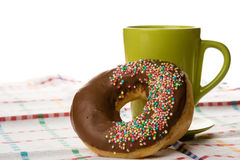 Doughnut and coffee Royalty Free Stock Photos
