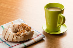 Doughnut and coffee Stock Image