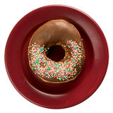 Doughnut with color sprinkles Royalty Free Stock Photo