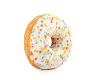 Doughnut covered in sprinkles Stock Image