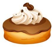 Doughnut with cream and coffee flavor Stock Photos