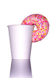 Doughnut and cup Stock Photography