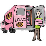 Doughnut delivery driver Stock Images