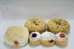 Doughnut or donut in box Royalty Free Stock Photos