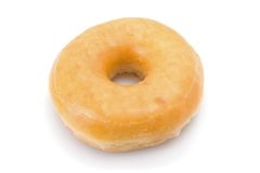 Doughnut or donut isolated on white Royalty Free Stock Photos