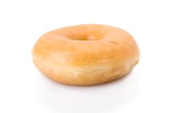 Doughnut or donut isolated on white Stock Photography