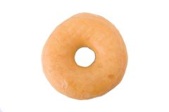 Doughnut or donut isolated on white Royalty Free Stock Images