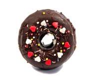 Doughnut or donut on white royalty free stock image