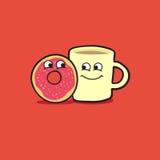 Doughnut en koffie Royalty-vrije Illustratie