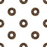Doughnut flat pattern Royalty Free Stock Image