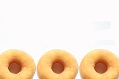Doughnut framing on white background Royalty Free Stock Photo