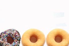 Doughnut framing on white background Royalty Free Stock Photos