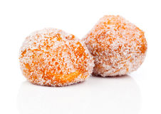 Doughnut. Fried doughnut covered with sugar royalty free stock images
