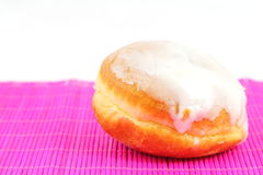 Doughnut with frosting Stock Photos